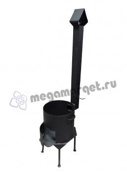 Печь для казана с дымоходом на 6 литров (премиум)