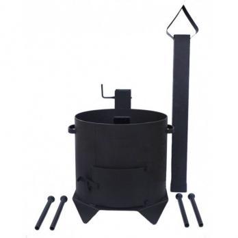 Печь для казана с дымоходом на 8 литров (премиум)