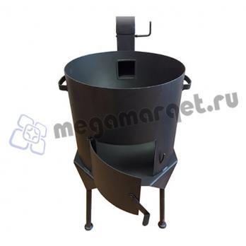 Печь для казана с дымоходом на 22 литра (премиум)